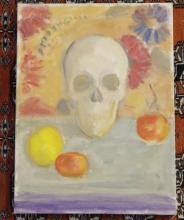 Fruit & Skull Still Life