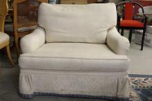 Mid Century White Club Chair