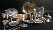 Group lot Silver Plate Sheffield serve ware