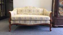 AL MYER Country French Camelback Settee