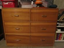 Vintage Mid Century Modern light Wood Dresser