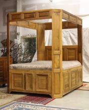 Antique French Door custom bed Circa 1800-1850