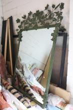 Large Ornate sculptural metal framed mirror
