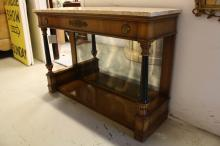WEINAN Marble topped Vintage Pier Table