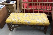 LALUNE Log Bench with upholstered seat