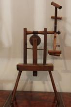 Antique American Wooden Spinning Wheel