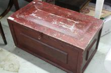 Antique Painted Blanket Chest on feet