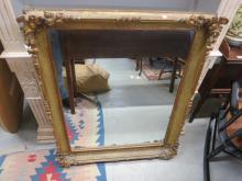 Ornately Carved Antique Gilded Mirror