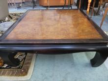 Asian Coffee table Ebony and Burled wood.