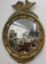 Carved Eagle Topped Regency Mirror