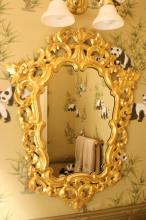 Spanish Antique carved Gold leafed mirror