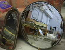 Two Antique Victorian Style Mirrors