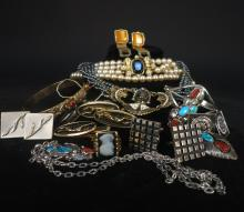 Vintage Lot of Costume Jewelry Some Gold