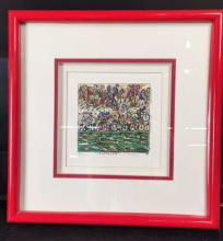 JAMES RIZZI SIgned LItho TRIATHLON Pop art