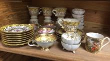 Group lot misc tea cups saucers Translucent China