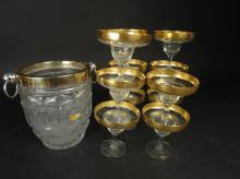 Lead crystal ice bucket 11 champagne stemware