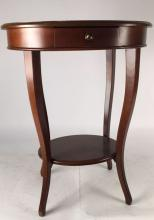 Oval Mahogany side table end table