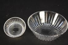 Two VAL SAINT LAMBERT Crystal Bowls