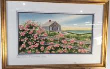 William R Tomlinson Watercolor Sea Side Home