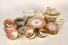 Assorted Gold Rimmed Porcelain Group Lot