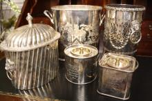 Silver plate Canister group lot