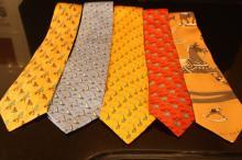 Group Lot 5 Hermes ties