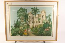 Vintage Print of Palm Beach