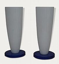 Pair glass lamps