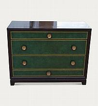 Ebonised chest of drawers