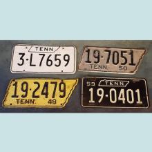 Vintage Tennessee License Plates