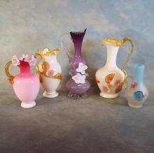 5 Artglass Vases
