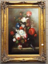 Oil on Canvas of Floral Still Life