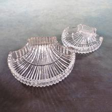 Set/2 Waterford Crystal Shell Dishes  (Largest 6.5