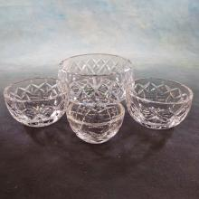 4 Waterford Crystal Bowls  (Largest 6