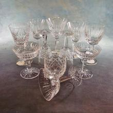10 Assorted Waterford Crystal Stemware & 1 Waterford Rocks Glass
