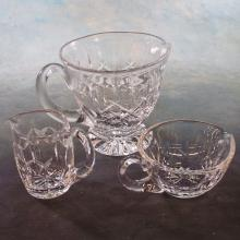 3 Waterford Crystal Single-handled Creamer/Gravy Pitchers