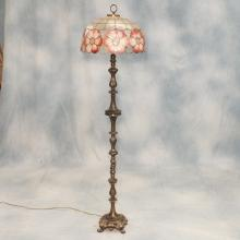Brass Floor Lamp w/Capiz and Scallop Shell Shade