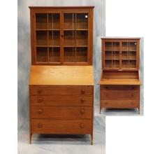 Mid-19th C Southern Pine Bookcase Secretary    36