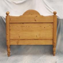 Pr Antique Pine Twin Beds w/Rails