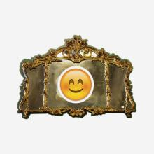 Antique French Carved/Gilt Mirror  c.1900   55