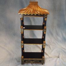 Pagoda-style Black Lacquer Wall Shelf    30