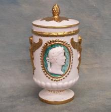 Hand Painted Italian Jar w/Lid