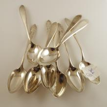 9 Sterling Silver Coffee Spoons  6