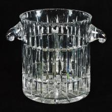 Signed crystal Champagne/Ice Bucket, 8.5