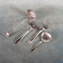 4 Sm Sterling Service Pieces