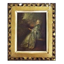 Pr 19th C Oil on Board of French Figures, Both Signed & Dated