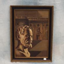Oil on Canvas of Greek Bust - Signed Lower Right  17.5