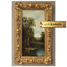 Pr 19th C Oil on Canvas of Landscapes by J.N. Bards   12.5