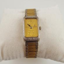 18K White and Yellow Gold Corum Quartz Watch w/Approx 1-2ctw Diamonds Surrounding the 999.9 Pure Gold Bar-Union Bank of Switzerland  46300V40 & 366133