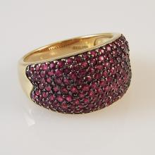 14K Y.G. Ladies' Cluster Ring